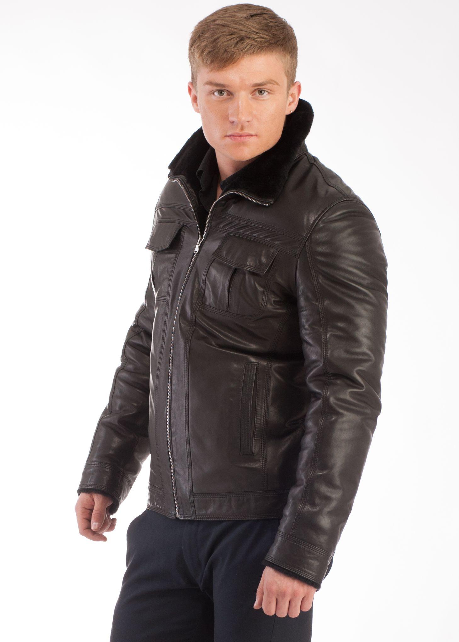 Купить Куртку Зимнюю Мужскую Кожаную В Интернет Магазине